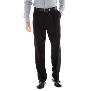 jcpenney.com | Haggar® eCLo™ Stria Classic-Fit Pleated Dress Pants
