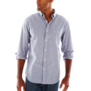 St. John's Bay® Striped Poplin Shirt