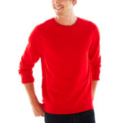 jcp™ French Terry Crewneck Sweater