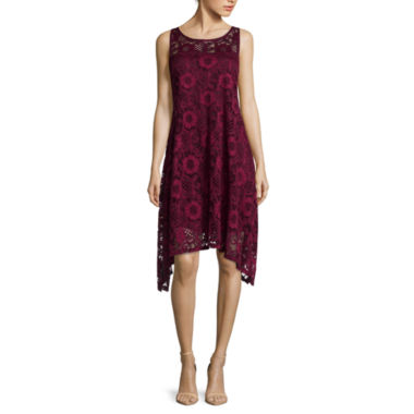 jcpenney.com | Robbie Bee® Sleeveless Lace Fit-and-Flare Dress - Petite