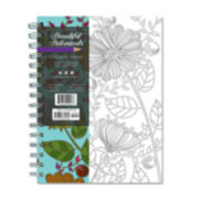 Beautiful Botanicals 140 Page Coloring Journal