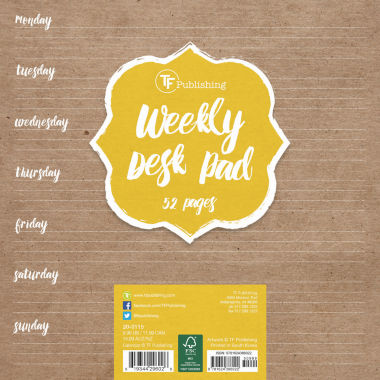 jcpenney.com | White Kraft Weekly Desk Pad