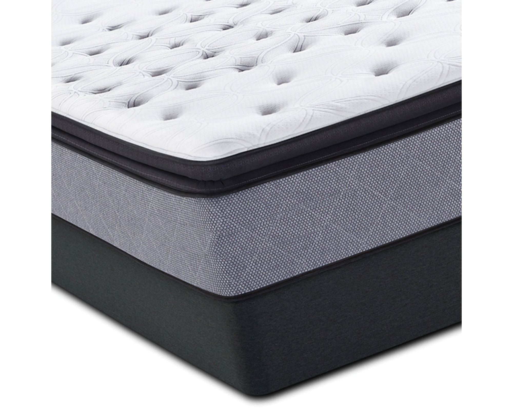 Sealy Posturepedic Iguaza Falls Firm Euro Pillow-Top Mattress & Box Spring