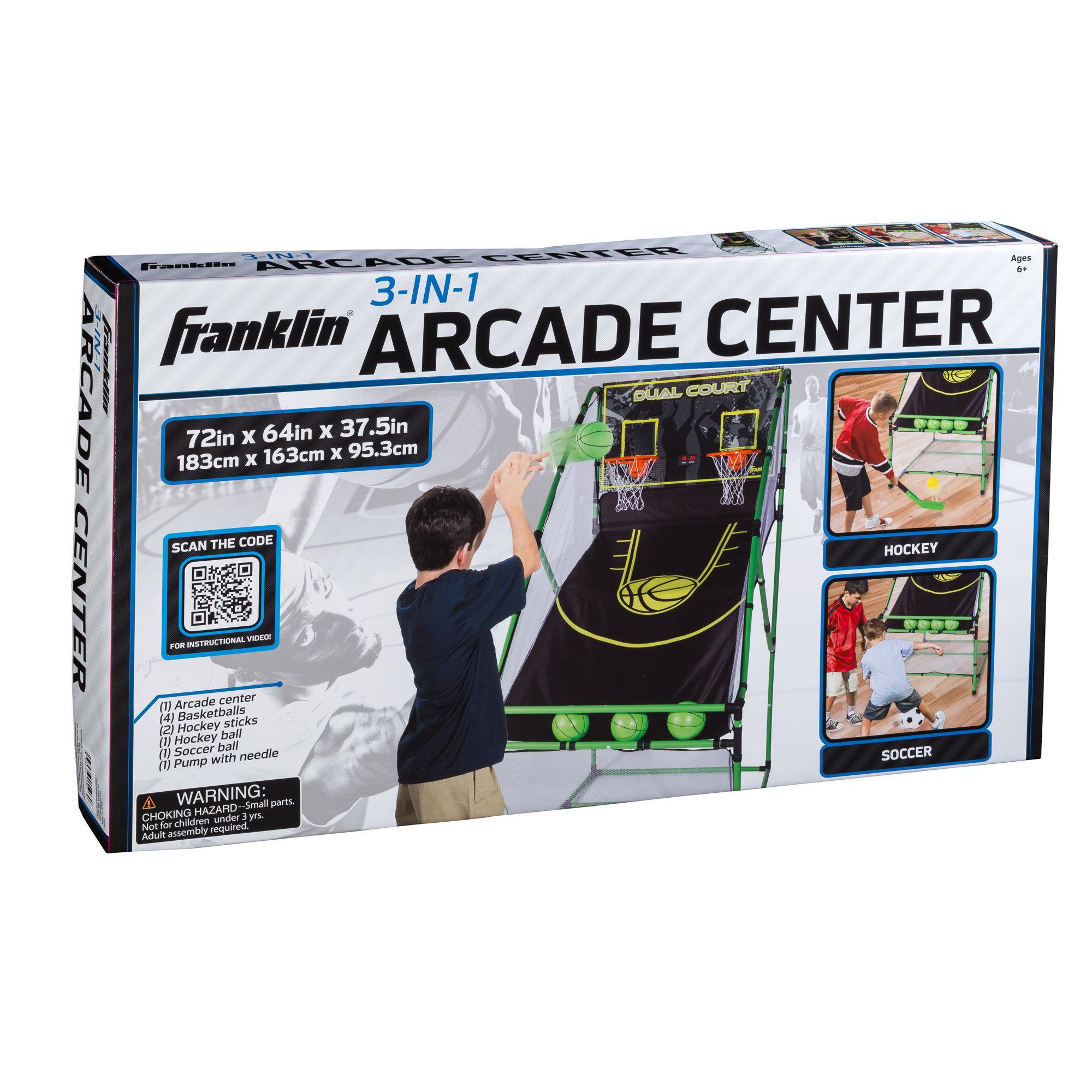 Franklin Sports 3-In-1 Arcade Center