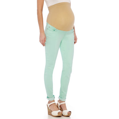 Maternity Overbelly Colored Skinny Jeans - JCPenney
