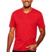 St. John's Bay® Legacy Short-Sleeve V-Neck Tee
