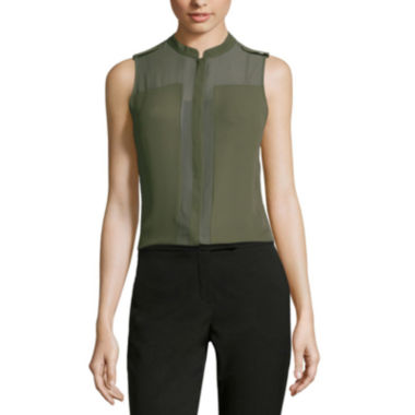 jcpenney.com | Worthington® Sheer Colorblock Blouse - Tall