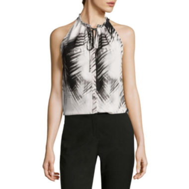 jcpenney.com | Worthington® Sleeveless Halter Blouse with Tie - Tall