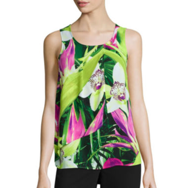jcpenney.com | Worthington® Sleeveless Tiered Ruffle Blouse - Tall