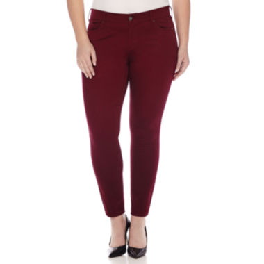 jcpenney.com | Arizona Sateen Skinny Pants - Juniors Plus