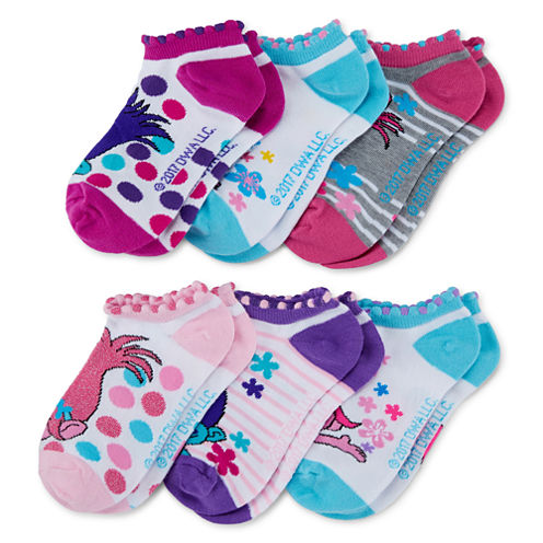Trolls Women's 6 Pair No Show Socks
