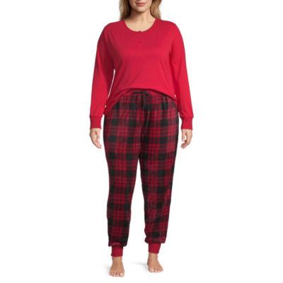 Holiday Famjams Red Buffalo Womens Plus Pant Pajama Set 2