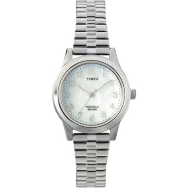 jcpenney.com | Timex® Womens Round Mother-of-Pearl Watch T2M826