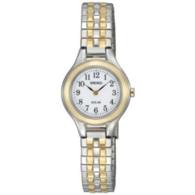 jcpenney.com | Seiko® Womens Two-Tone Stainless Steel Solar Watch SUP100