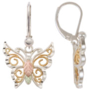 Sterling Silver & Black Hills Gold® Butterfly Earrings