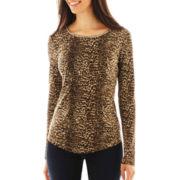 Liz Claiborne® Long-Sleeve Thermal Top - Petite