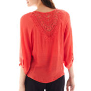 by&by Crochet-Back Peasant Top