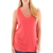 a.n.a® Side-Ruched Colorblock Tank Top - Plus
