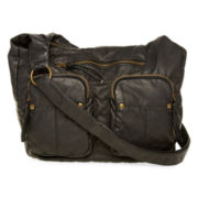 T-Shirt & Jeans™ Double-Pocket Convertible Hobo Bag