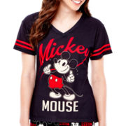 Disney Mickey or Minnie Short-Sleeve Sleep Tee