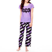 Batman Short-Sleeve Tee and Pants Pajama Set