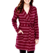 Flirtitude® Striped Knit Robe