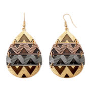 Decree® Aztec Teardrop Earrings