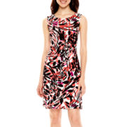Worthington® Sleeveless Scuba Shift Dress