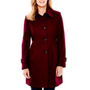 Liz Claiborne® Babydoll Wool-Blend Coat