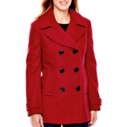 St. John's Bay® Wool-Blend Pea Coat