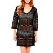Porto Cruz® V-Neck Crocheted Dress Cover-Up
