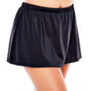 Azul by Maxine of Hollywood Solid Skirted Swim Bottoms - Plus