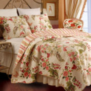 Greenland Home Fashions Butterflies Quilt Set