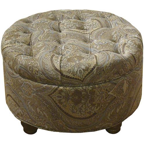 Roslyn Tufted Round Storage Ottoman - Roslyn Tufted Round Storage Ottoman - JCPenney