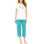 MNC Sportswear Cotton Tee and Capri Pajama Set