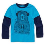 Okie Dokie® Long-Sleeve Graphic Tee - Preschool Boys 4-7