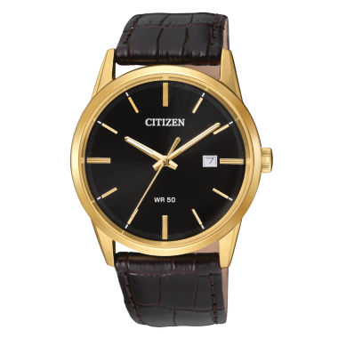jcpenney.com | Citizen Quartz Mens Brown Strap Watch-Bi5002-06e