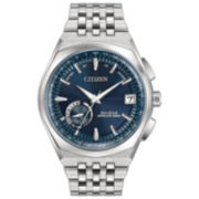 Citizen Mens Silver Tone Strap Watch-Cc3020-57l