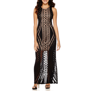 jcpenney.com | Kelly Renee Burnout-Pattern Maxi Dress with Side Slits