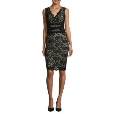 jcpenney.com | RN Studio by Ronni Nicole Sleeveless Lace Sheath Dress