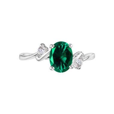 jcpenney.com |  Lab-Created Emerald Gemstone Sterling Silver Ring