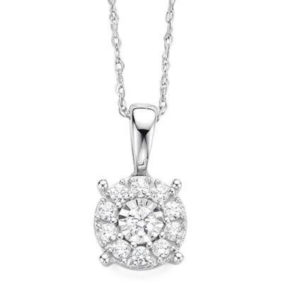 Diamond blossom 15 ct tw diamond miracle plate 10k white gold diamond blossom 15 ct tw diamond miracle plate 10k white gold pendant necklace aloadofball Gallery