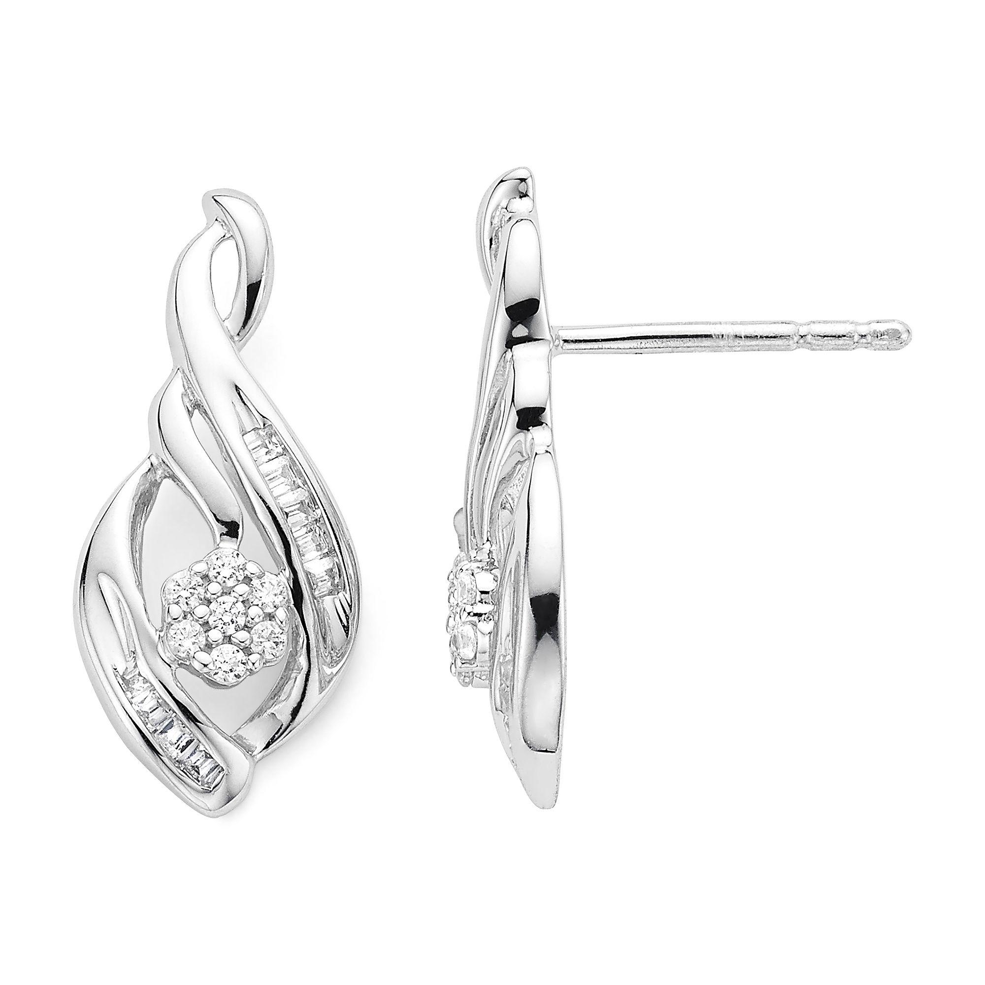 4 Ct Tw Diamond N Sterling Silver Earrings Jcpenney