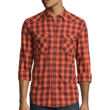 jcpenney.com | Arizona Long-Sleeve Western Poplin Woven Shirt