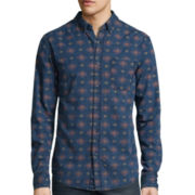Arizona Long-Sleeve Printed Chambray Woven Shirt
