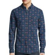 Arizona Long-Sleeve Printed Chambray Woven Shirt