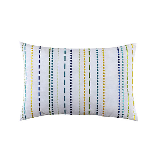 Fiesta Lavida Embroidered Stripe Oblong Decorative Pillow