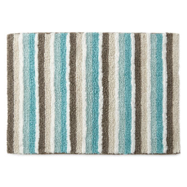 jcpenney.com | JCPenney Home™ Cotton Reversible Stripe Bath Rug Collection