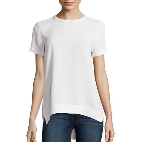 Stylus™ Short-Sleeve Woven Shell Shirt - Tall