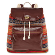 Olsenboye® Tribal Backpack with Faux-Leather Flap Pocket